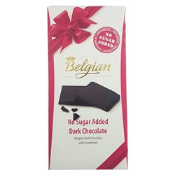 Бельгийский темный шоколад без сахара, Belgian No Sugar Added Dark Chocolate, 100 г.