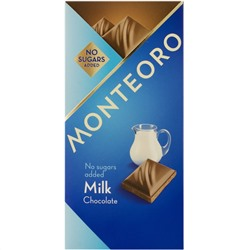 Молочный шоколад на мальтите, Monteoro Milk Chocolate, 90 г.